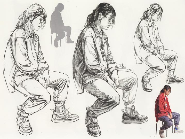 【速写干货】速写人物怎么样才能画好坐姿?