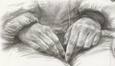【素描干货】素描半身像的手怎么画才能拿高分?!