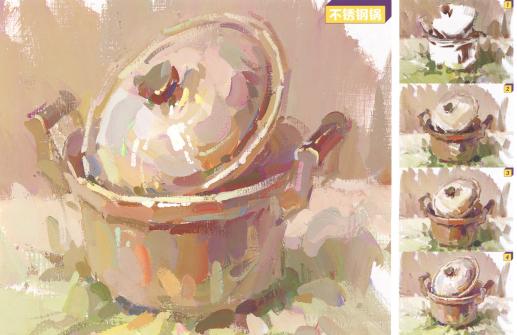 【色彩干货】2022美术联考来了!不锈钢材质的画法还不会画?